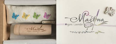 Gift box - colorful butterflies