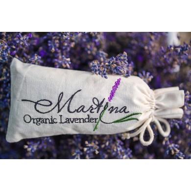 Embroidered lavender mini bag