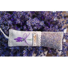 Handmade embroidered lavender mini bag