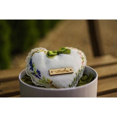 Flowery lavender heart