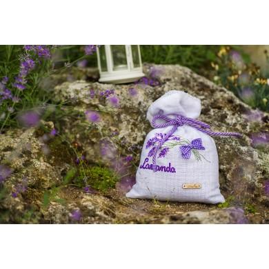 Handmade embroidered  lavender sack
